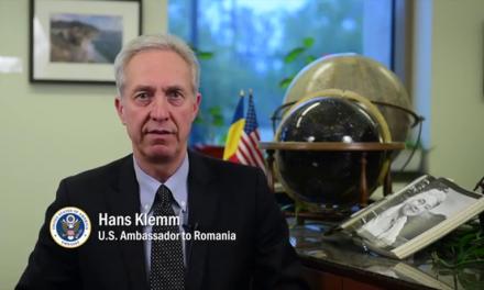 Ambasadorul SUA la Bucuresti, Hans Klemm despre eliminarea vizelor pentru cetatenii romani